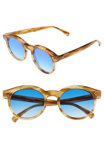 Wildfox Harper Zero 5m Round Keyhole Sunglasses - Sierra Tortoise