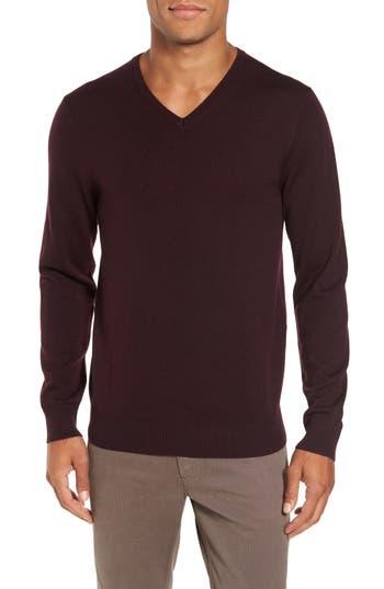 Bonobos Merino V-Neck Sweater, Red