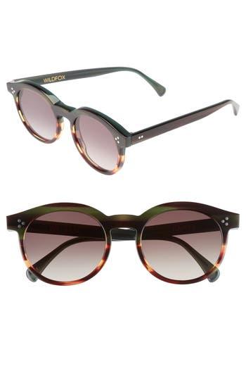 Wildfox Harper Zero 5m Round Keyhole Sunglasses - Sea Turtle