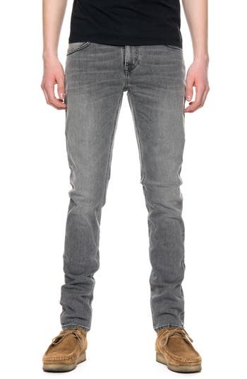 Nudie Jeans Skinny Lin Skinny Fit Jeans, Grey