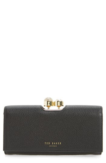 Ted Baker London Marta Bobble Matinee Leather Wallet - Black