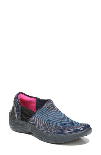 Bzees Tiger Slip-On Sneaker, Blue