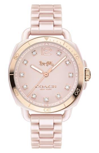 COACH Tatum Ceramic Bracelet Watch, 34mm