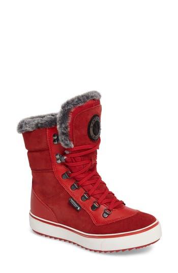 Santana Canada Mixx Faux Fur Waterproof Boot, Red