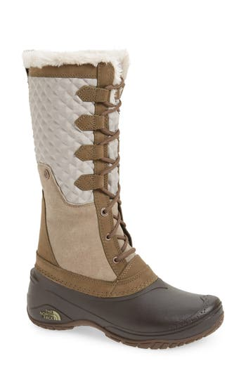 The North Face Shellista Iii Tall Waterproof Insulated Winter Boot, Beige