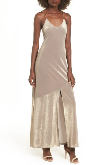 Leith Shine Maxi Dress, Metallic