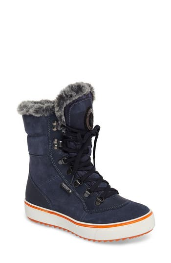 Santana Canada Mixx Faux Fur Waterproof Boot, Blue