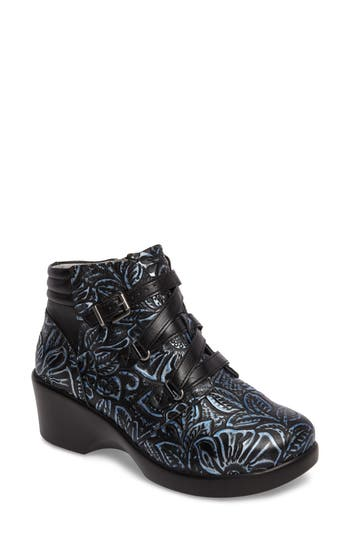 Alegria Indi Demi Wedge Bootie, Blue