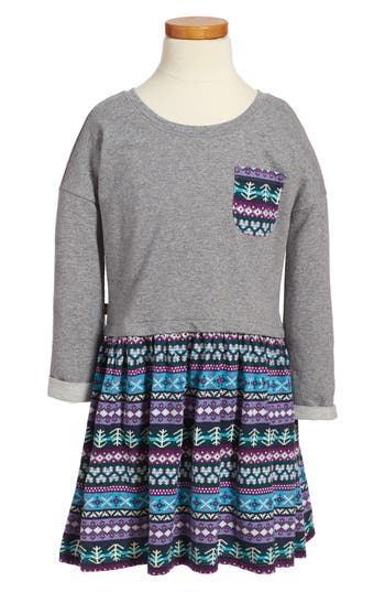 Girls Tea Collection Islay Dress Size 4  Grey
