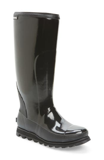 Sorel Joan Glossy Tall Rain Boot, Black