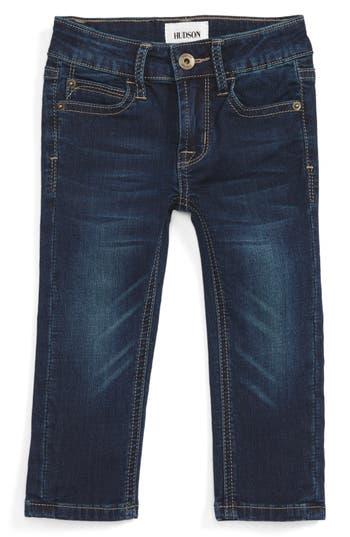 Infant Boys Hudson Kids Parker French Terry Jeans Size 6M  Blue
