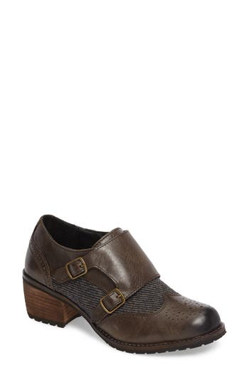 Aetrex Dina Double Monk Strap Ankle Boot Grey