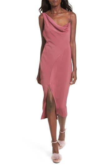 Keepsake The Label Be Mine Midi Dress, Burgundy