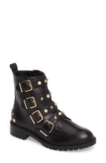 Steve Madden Wilmer Studded Boot- Black