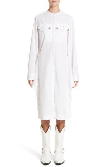 Calvin Klein 205W39Nyc Pinstripe Cotton Poplin Dress, 6 IT - White