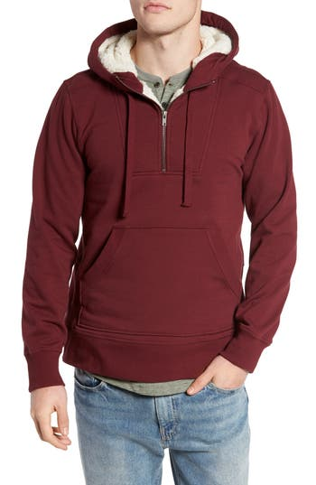 Tunellus Fleece Lined Hoodie, Red