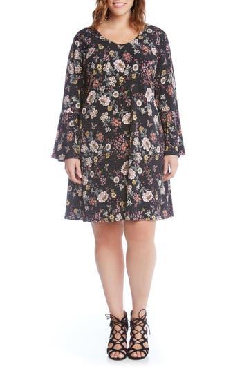 Plus Size Karen Kane Taylor Floral A-Line Dress, Pink