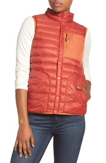 Women's Burton Evergreen Water-Resistant Down Insulator Vest, Size X-Small - Red