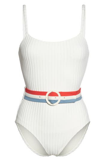 Solid & Striped The Nina One-Piece Swimsuit, White