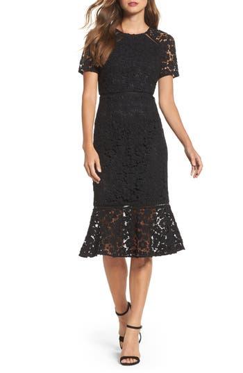 Shoshanna Octavia Lace Sheath Dress, Black