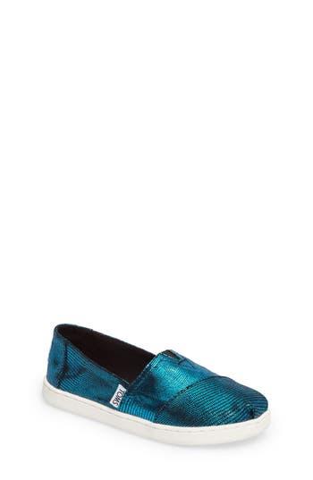 Girls Toms Classic Alpargata SlipOn Size 1 M  Blue