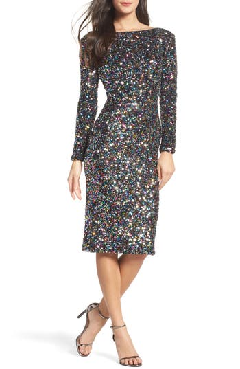 Dress The Population Emery Ombre Sequin Body-Con Dress
