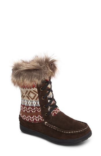 Woolrich Doe Creek Ii Faux Fur Trim Boot, Brown