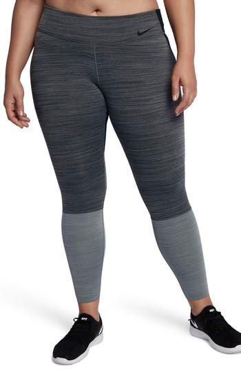 Plus Size Nike Legendary Training Tights, Grey