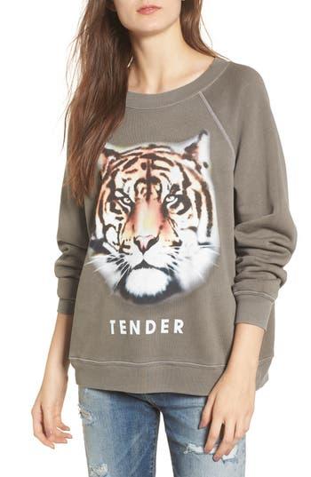 Women's Wildfox Tender - Sommers Sweatshirt, Size X-Small - Green