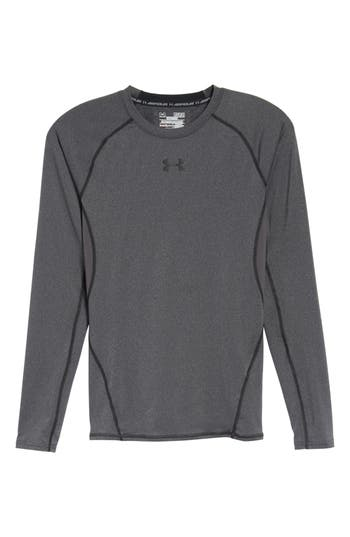 Under Armour Heatgear Compression Fit Long Sleeve T-Shirt, Grey
