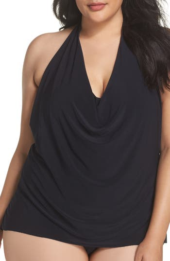 Plus Size Magicsuit Sophie Underwire Tankini Top, Black