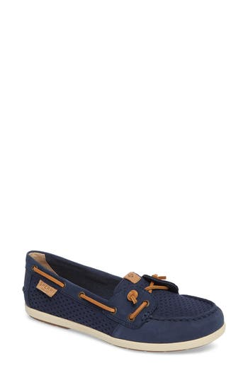 Sperry Coil Ivy Perforated Boat Shoe, Blue