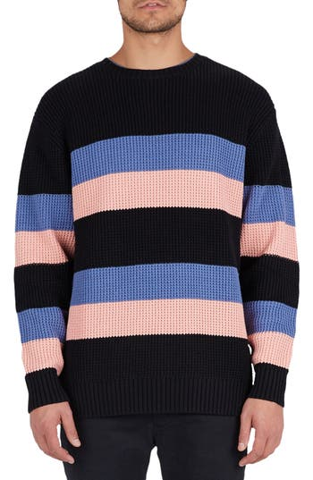 Barney Cools Rugby Stripe Sweater, Black