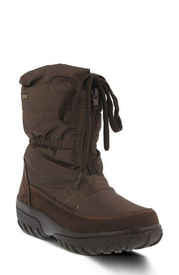 Spring Step Lucerne Waterproof Drawstring Boot - Brown