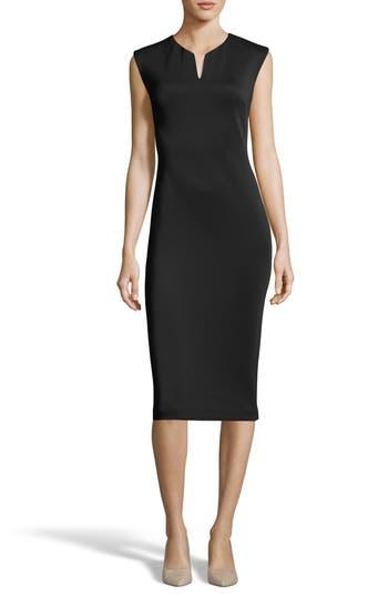 Eci Notch Neck Sheath Dress, Black