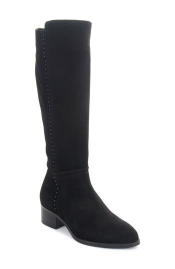 Italeau Fiamma Water Resistant Knee High Boot, Black