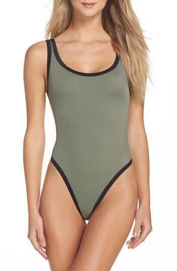 Body Glove Seaway Rocky One-Piece Swimsuit, Green