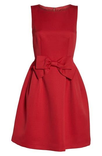 Tahari Bow Front A-Line Dress