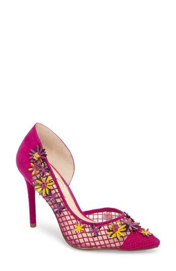 Jessica Simpson Leighah Floral Illusion Pump- Purple