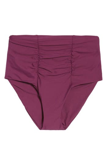 Becca Color Code High Waist Bikini Bottoms, Purple