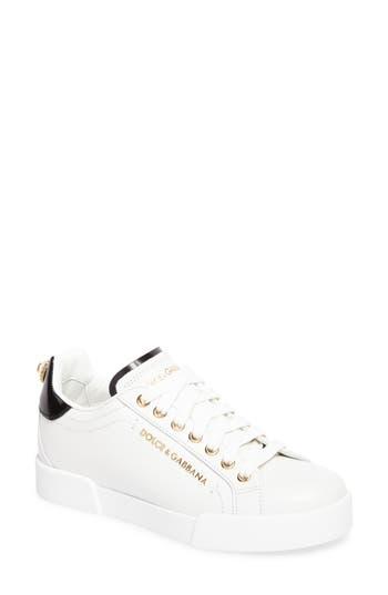 Dolce & gabbana Logo Embellished Sneaker - White