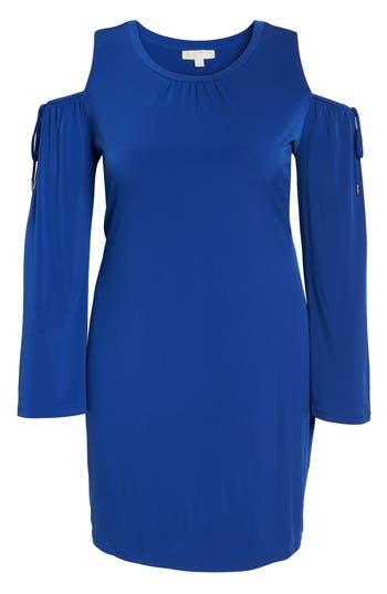 Plus Size Michael Michael Kors Cold Shoulder Shift Dress, Blue