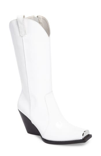 Jeffrey Campbell Overkill Western Boot- White
