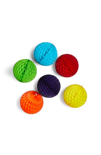 Moma Design Store Set Of 6 Honeycomb Paper Ball Ornaments, Size One Size - None