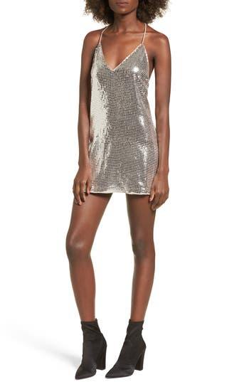 Nbd Envy Sequin Minidress, Metallic