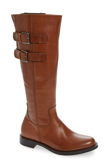 Ecco Shape 25 Tall Buckle Boot, Brown