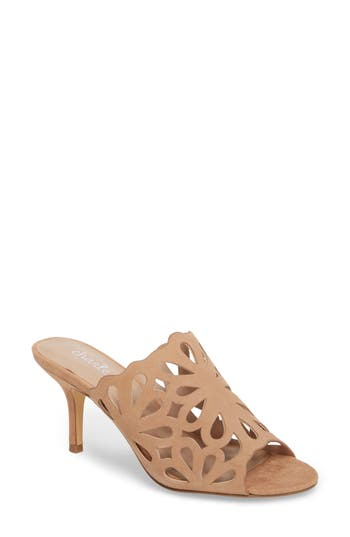 Charles By Charles David Nicki Perforated Open Toe Mule, Beige