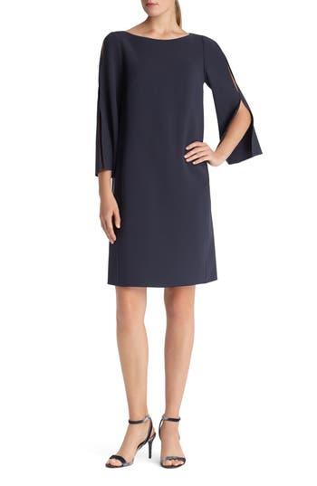 Lafayette 148 New York Candace Finesse Crepe Shift Dress, Size Petite - Blue