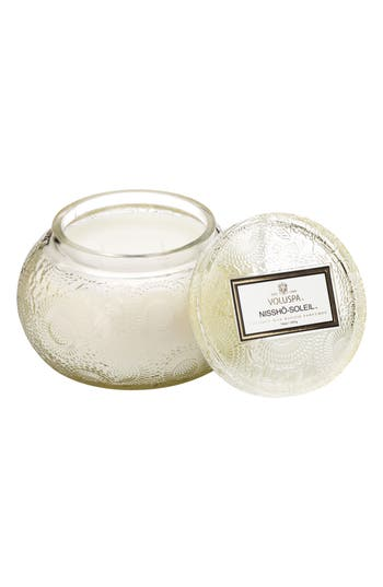 Voluspa Embossed Glass Chawan Bowl Candle, Size One Size - Ivory