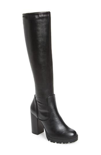 Steve Madden Lately Knee High Boot- Black